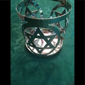 Yankee candle star of David candle holder